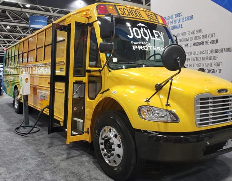 Thomas Built Buses Electric School Bus Powered by Proterra