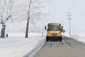 Snow Thomas School Bus Stop