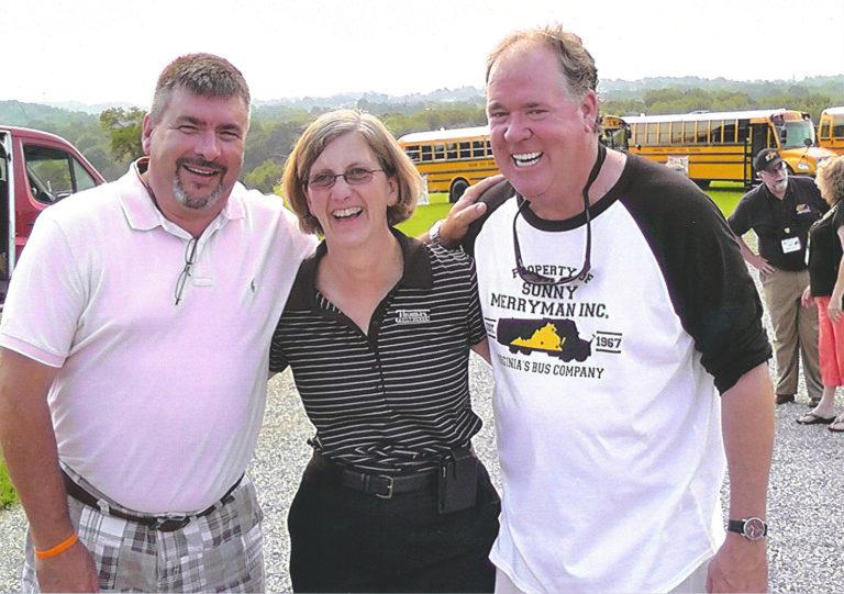 JD Satterwhite of Caroline County with Kelly Platt and Floyd Merryman at VAPT