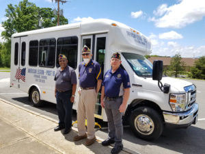 American Legion Post 16 New Bus Delivery