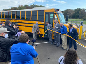 Jouley Electric School Bus Inaugural Plug-In Event